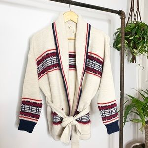 Anthro Moth Open Front Cardigan with waist tie